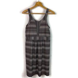 TEHAMA Gray Athletic Tank Dress Built In Bra L